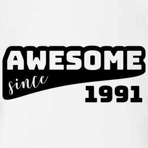 Awesome since 1991 / Birthday-Shirt - Organic Short-sleeved Baby Bodysuit