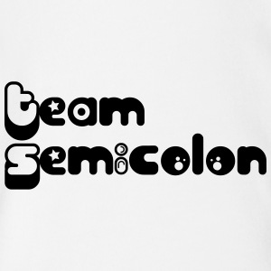 Team Semicolon - Baby Bio-Kurzarm-Body