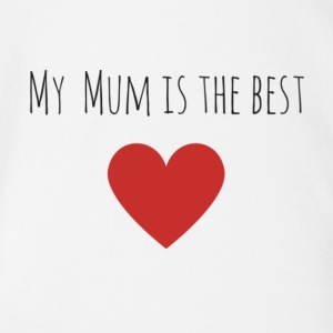 My_Mum_is_the_best-1- - Vauvan lyhythihainen luomu-body