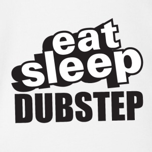 Eat Sleep Dubstep - Organic Short-sleeved Baby Bodysuit