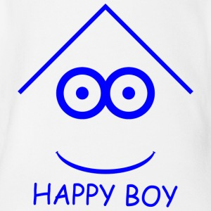 Happy Boy - Body orgánico de maga corta para bebé