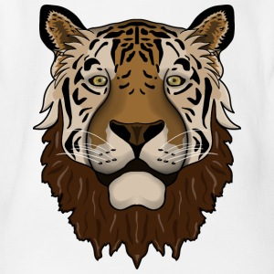 Bearded tiger - Organic Short-sleeved Baby Bodysuit