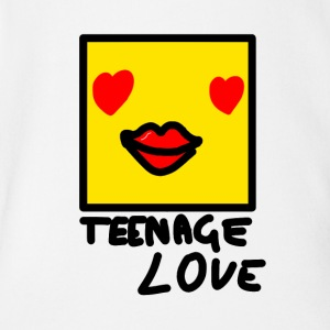 Self Picture Girl: Teenage Love - Organic Short-sleeved Baby Bodysuit