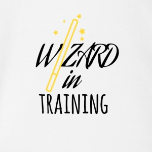 Wizard in training - Organic Short-sleeved Baby Bodysuit