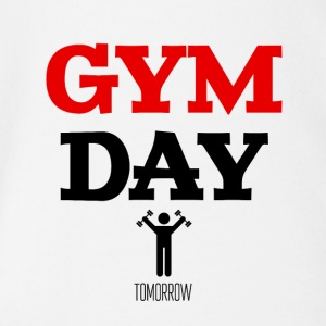 Gym Day Tomorrow - Baby bio-rompertje met korte mouwen