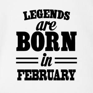 Legends are born in FEBRUARY - Body orgánico de maga corta para bebé