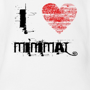 I love minimal techno dubstep - Organic Short-sleeved Baby Bodysuit