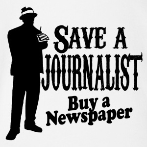 Save a journalist - Organic Short-sleeved Baby Bodysuit