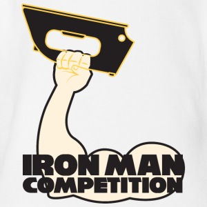 Iron Man Competition - Iron Man Competition - Organic Short-sleeved Baby Bodysuit