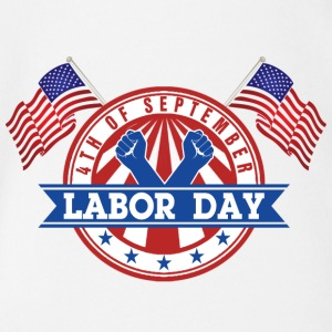 LABOR DAY Monday 4th of September American Patriot - Baby Bio-Kurzarm-Body