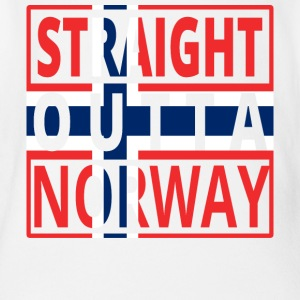 Straight outta NORWAY norway denmark png - Organic Short-sleeved Baby Bodysuit