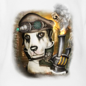 Steampunk Dog # 3 - Organic Short-sleeved Baby Bodysuit