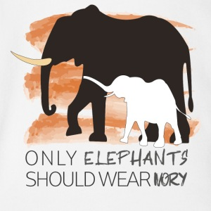 Only Elephants Should wear Ivory - Baby Bio-Kurzarm-Body