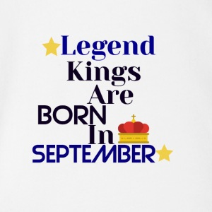 Legend Kings föds i september - Ekologisk kortärmad babybody