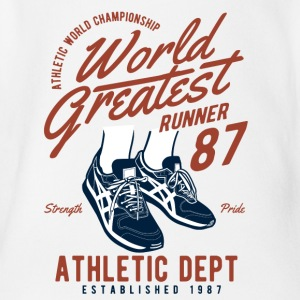 World Greatest Runner2 - Organic Short-sleeved Baby Bodysuit