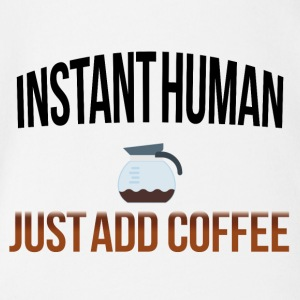 Instant human add coffee - Organic Short-sleeved Baby Bodysuit
