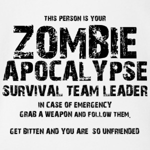 Zombie: This Person Is Your Zombie Apocalypse - Organic Short-sleeved Baby Bodysuit