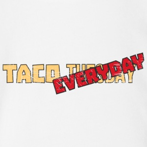 Tacoholic  Taco (Tuesday) Everyday  Funny Taco - Organic Short-sleeved Baby Bodysuit