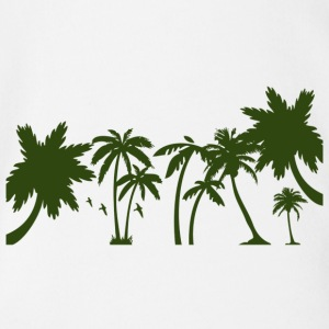 Palm trees - Organic Short-sleeved Baby Bodysuit