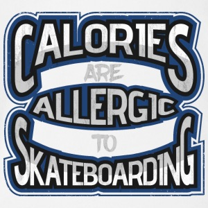 Calories are allergic to skate boards 2 - Organic Short-sleeved Baby Bodysuit