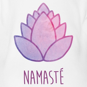 Lotus Flower Namasté - Organic Short-sleeved Baby Bodysuit