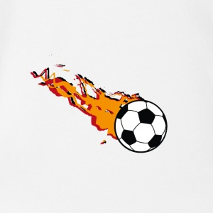 Burning Football - Organic Short-sleeved Baby Bodysuit