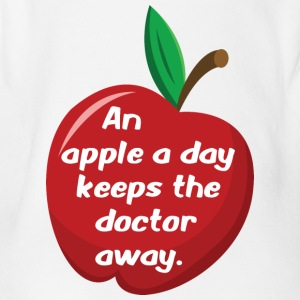 An apple a day... - Baby Bio-Kurzarm-Body