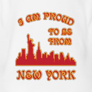 I am proud to be from New york I am proud to be fr - Organic Short-sleeved Baby Bodysuit
