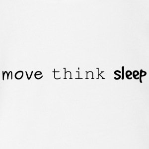 move think sleep - Baby Bio-Kurzarm-Body