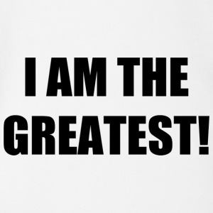 I AM THE GREATEST! - Organic Short-sleeved Baby Bodysuit