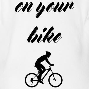 on your bike - Organic Short-sleeved Baby Bodysuit