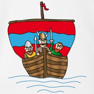 The Wiking ship | Boat | sailing ship - Organic Short-sleeved Baby Bodysuit
