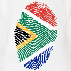Fingerprint - South Africa - Organic Short-sleeved Baby Bodysuit
