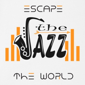 Escape the World Jazz Saxophone Music Passion Song - Økologisk kortermet baby-body