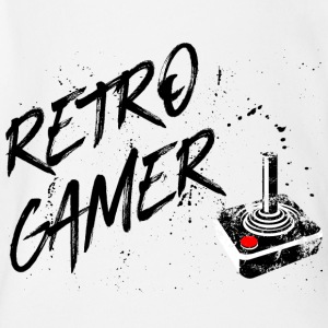 Retro gamer - gaming vintage retro joystick game - Organic Short-sleeved Baby Bodysuit