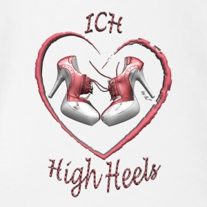Liebe high heels - Baby Bio-Kurzarm-Body