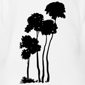 Palm trees silhouette - Organic Short-sleeved Baby Bodysuit