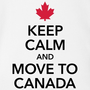 keep calm and move to Canada Maple Leaf Canada - Organic Short-sleeved Baby Bodysuit