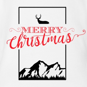 Merry Christmas - Organic Short-sleeved Baby Bodysuit