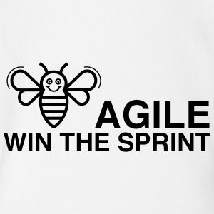 BE AGILE WIN THE SPRINT - Organic Short-sleeved Baby Bodysuit