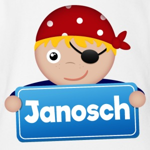 Little Pirate Janosch - Organic Short-sleeved Baby Bodysuit
