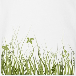 Green meadow - Organic Short-sleeved Baby Bodysuit