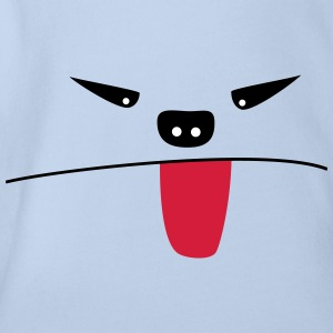 Monster that pulls the tongue - Organic Short-sleeved Baby Bodysuit