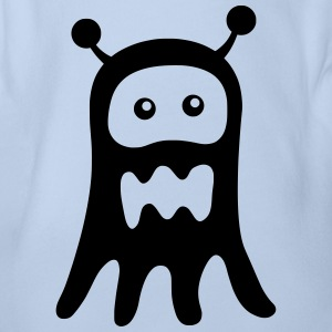 Ghost Monster - Organic Short-sleeved Baby Bodysuit