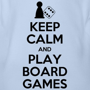 Keep Calm - Board Games - Organic Short-sleeved Baby Bodysuit
