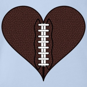 American Football Heart - Organic Short-sleeved Baby Bodysuit