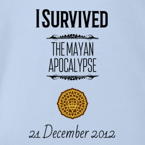 I survived the Mayan Apocalypse - Organic Short-sleeved Baby Bodysuit