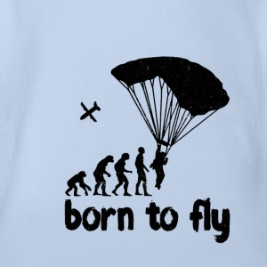 Evolution Skydiving - born to fly - Organic Short-sleeved Baby Bodysuit