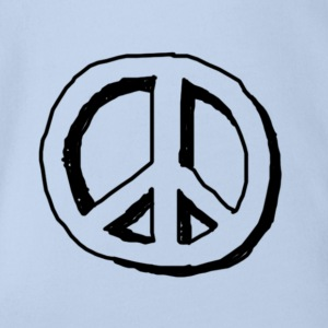 Peace hippie logo - Organic Short-sleeved Baby Bodysuit