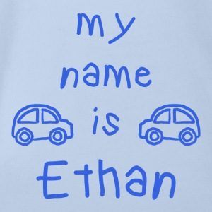ETHAN My Name Is - Vauvan lyhythihainen luomu-body